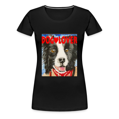 dog-lover border collie - Women's Premium T-Shirt