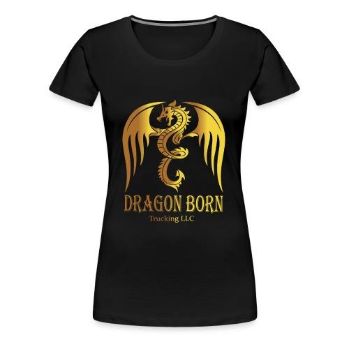 Dragon Born Logo Style 1 Gold - Women's Premium T-Shirt