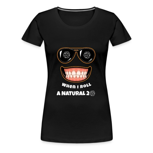 RPG Natural 20 Gaming Gift idea for Gamers, Nerds and Geeks - Women's Premium T-Shirt