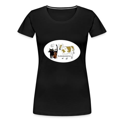 Cat Found a Fiddle - Women's Premium T-Shirt