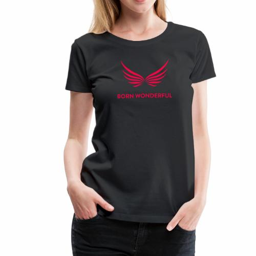 Red Born Wonderful Logo - Women's Premium T-Shirt