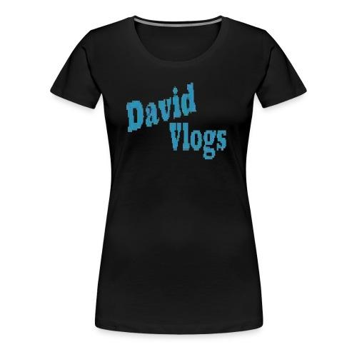 davidvlogsHD - Women's Premium T-Shirt