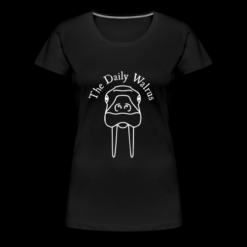 Walrus logo white - Women's Premium T-Shirt