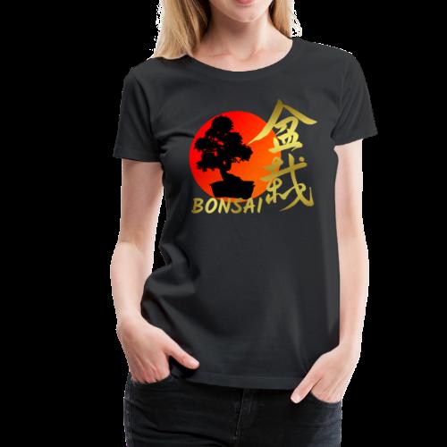 Bonsai Tree Japanese Red Rising Sun Shirt Gift - Women's Premium T-Shirt