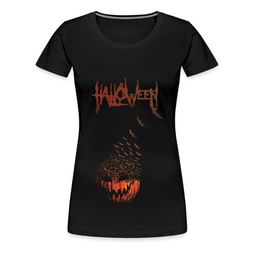 Halloween Jack O' Bats - Women's Premium T-Shirt