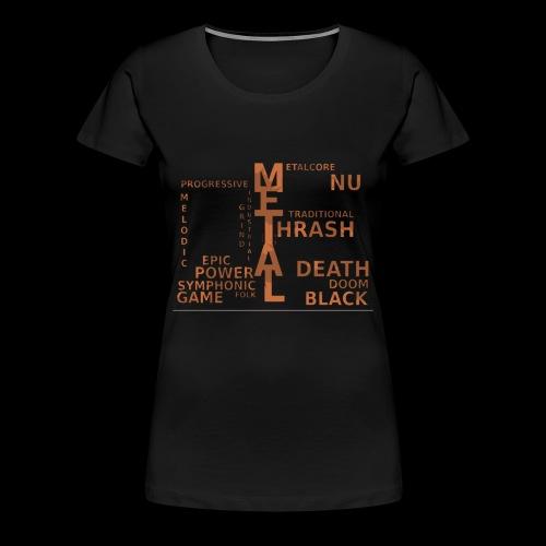 Subgenre Of Metal - Women's Premium T-Shirt