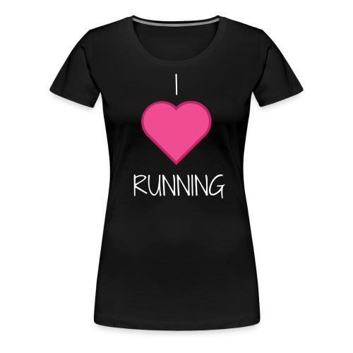 I Love Running Women's Shirt - Women's Premium T-Shirt