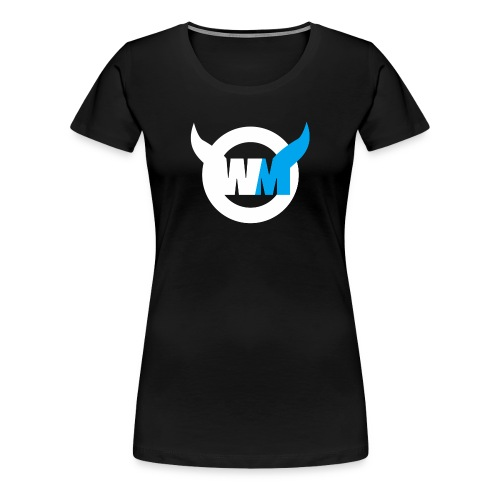 WTFMoses Logo white/blue - Women's Premium T-Shirt