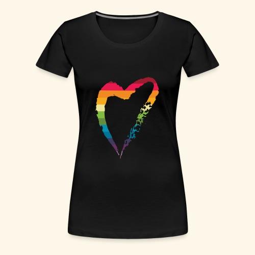 gay heart - Women's Premium T-Shirt