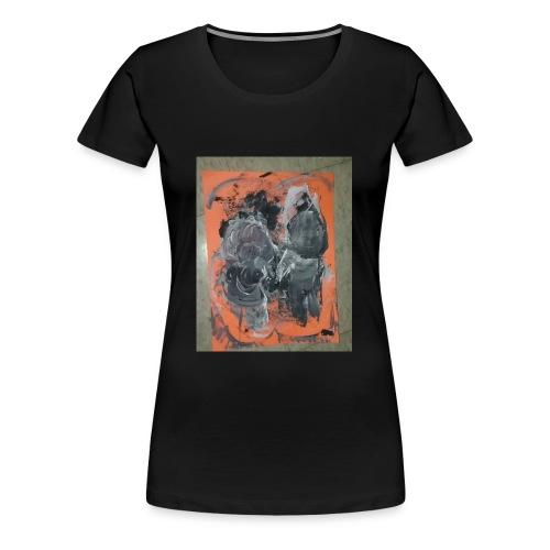 couple running from fire - Women's Premium T-Shirt