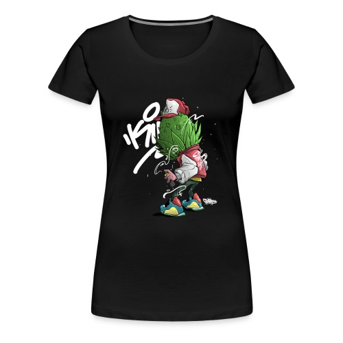 1 Buds Head Graffiti - Women's Premium T-Shirt