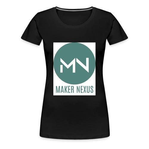 Maker Nexus Logo on white square - Women's Premium T-Shirt