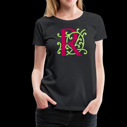 DIY FlexColor™ Monogram R • A4-2 – 2 Colors - Women's Premium T-Shirt