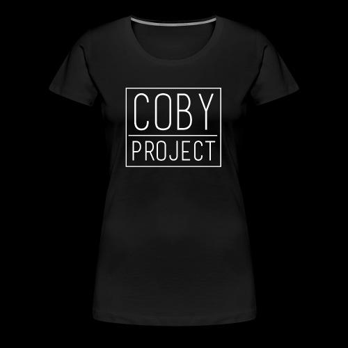 coby logo white - Women's Premium T-Shirt