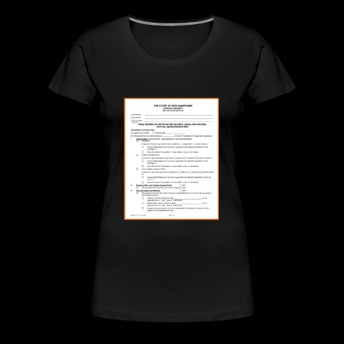divorce papers - Women's Premium T-Shirt