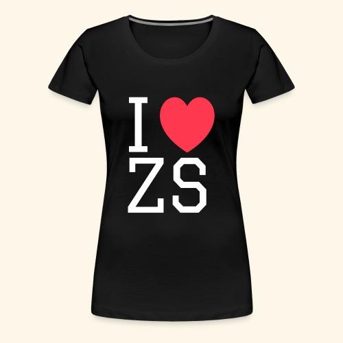 I ♥ ZS Black - Women's Premium T-Shirt