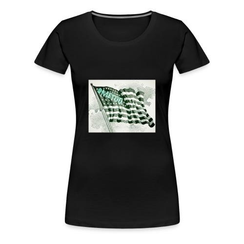 American Flag #METOO - Women's Premium T-Shirt