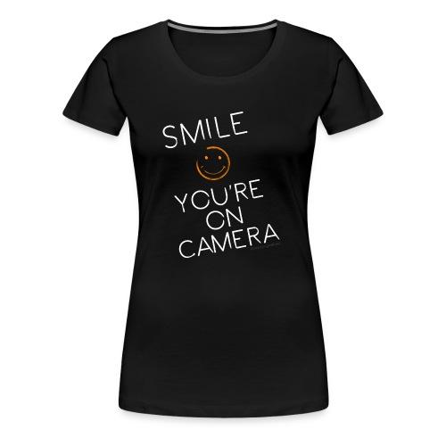 Smiley Cam Alert - Women's Premium T-Shirt