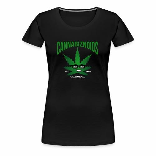 Cannabiznoids Logo with Text - Women's Premium T-Shirt