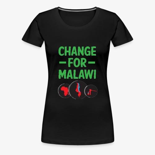 Change for Malawi Logo Shirt - Women's Premium T-Shirt