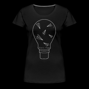 Blank Page Lightbulb - Women's Premium T-Shirt