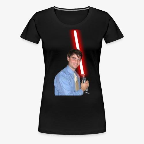 Ben With Lightsaber - Women's Premium T-Shirt
