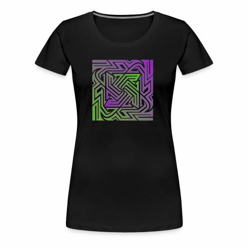 Purple/Green Matrix - Women's Premium T-Shirt