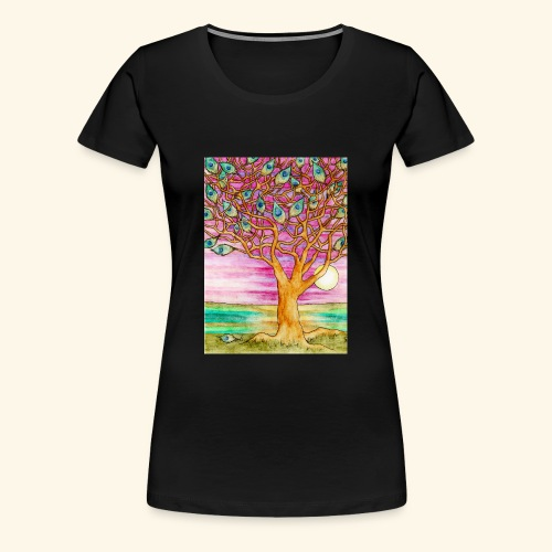 peacock tree - Women's Premium T-Shirt