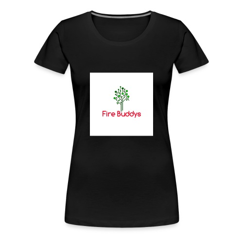 Fire Buddys Website Logo White Tee-shirt eco - Women's Premium T-Shirt