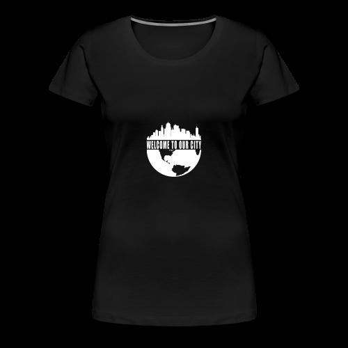 WTOC Logo White - Women's Premium T-Shirt