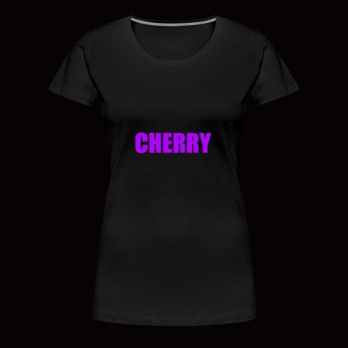 Cherry (Original Text Logo) Merch - Women's Premium T-Shirt