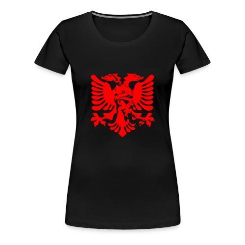 Albanian eagle with national hero Skanderbeg - Women's Premium T-Shirt