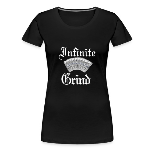 Infinite Bands White Ink - Women's Premium T-Shirt