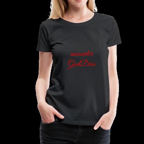 inspi shirt-7.2: encounter GodDess (red) - Women's Premium T-Shirt