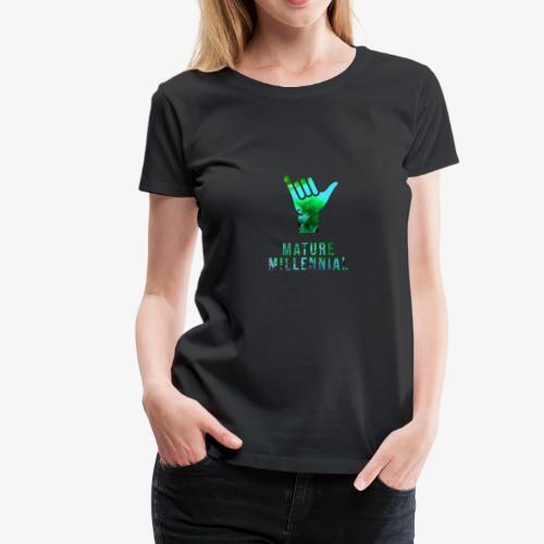 Mature Millennial Minimal Statement Shirt Abstract - Women's Premium T-Shirt