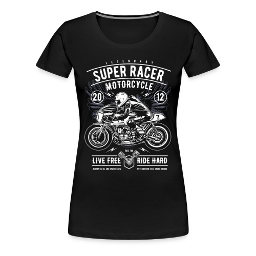 Super Racer Motorcycle - Women's Premium T-Shirt
