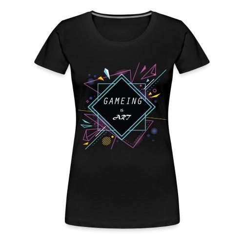 gameing is art - Women's Premium T-Shirt