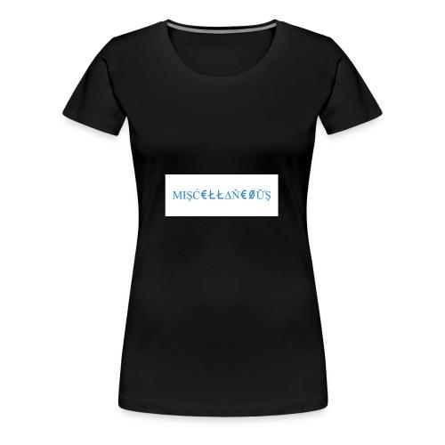 Miscellaneous White&Blue Design - Women's Premium T-Shirt