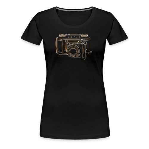 Camera Sketches - Voigtlander Synchro Compur - Women's Premium T-Shirt