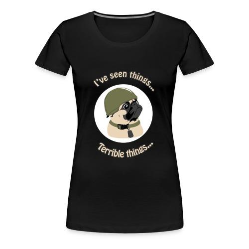 Army Pug - Women's Premium T-Shirt