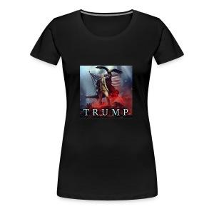 Trump MAGA fight against evil - Women's Premium T-Shirt