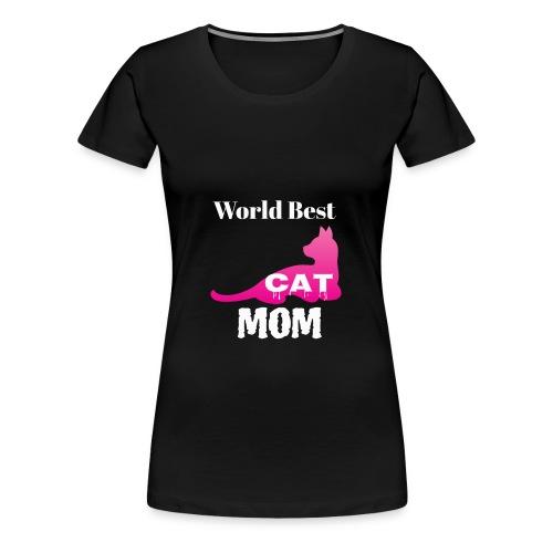 World Best Cat Mom - Women's Premium T-Shirt
