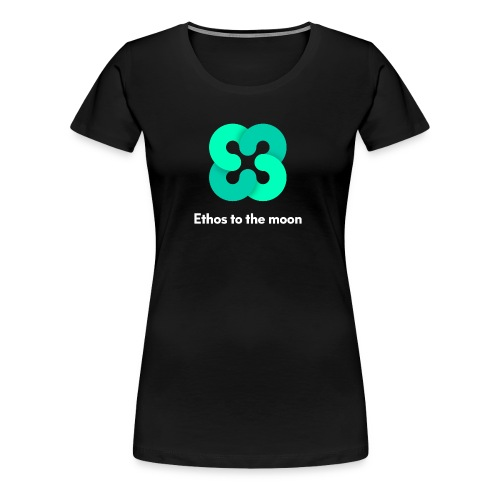 ETHOS - BITQUENCE - To The Moon Classic - White - Women's Premium T-Shirt
