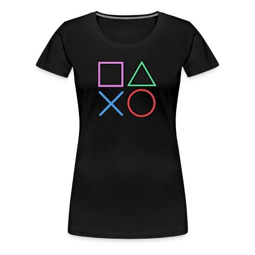 Gamer Buttons - Women's Premium T-Shirt