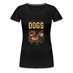 Three Astro Dogs - Women's Premium T-Shirt