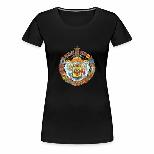 800px Greater coat of arms of the Russian empire - Women's Premium T-Shirt