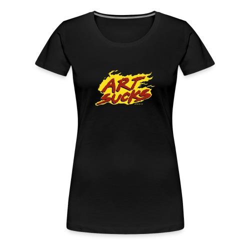 Flaming Art Sucks - Women's Premium T-Shirt
