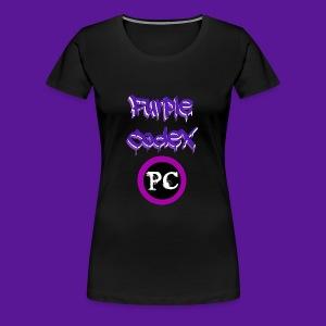 Purple Codex name and logo - Women's Premium T-Shirt