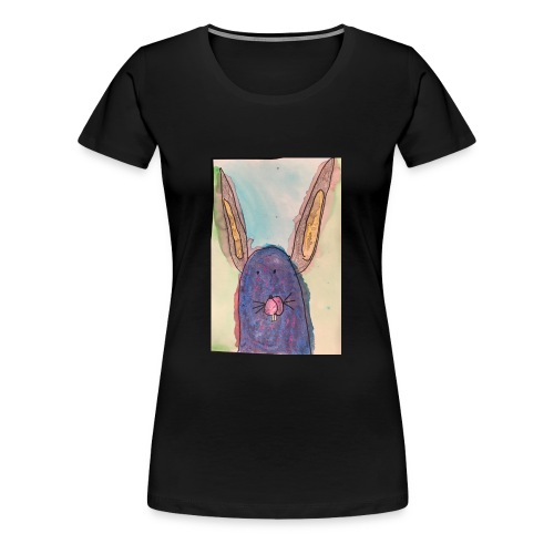 Bunny Big Ears By T - Women's Premium T-Shirt