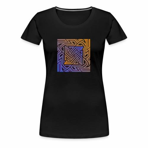 Blue\orange Matrix - Women's Premium T-Shirt